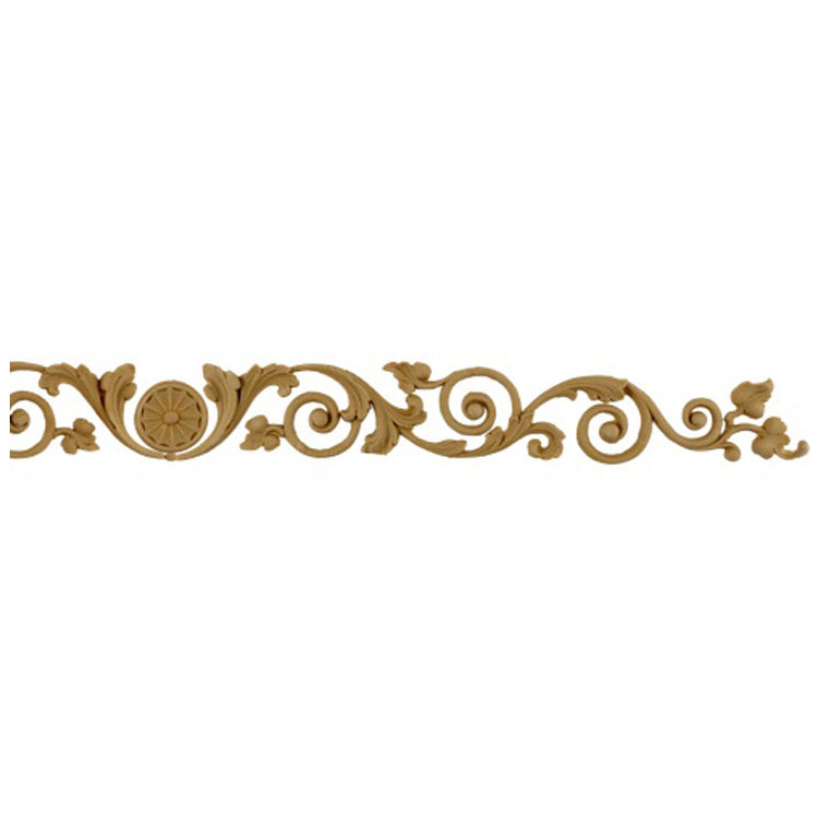 "Shop Beautiful 12""(W) x 1-1/2""(H) - Vine & Leaves in Scroll Pattern Horizontal Design - [Compo Material]-HRZ-F0151-CP-2"