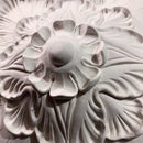 "10"" (W) x 10"" (H) x 3"" (Relief) - Roman Flower Square Rosette - [Plaster Material]"