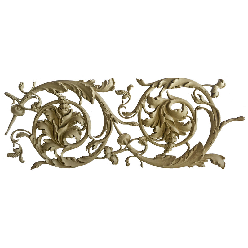 "11""(H) x 1""(Relief) - Italian Renaissance Scroll Linear Molding Design - [Compo Material]-Brockwell Incorporated"