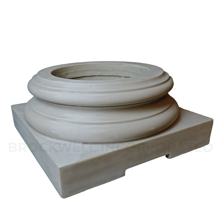 Load-Bearing Fiberglass Composite Column Base for Wood Shafts