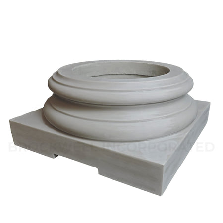 Load-Bearing Attic Exterior Column Base Made to Sit Underneath Wood Column Shafts
