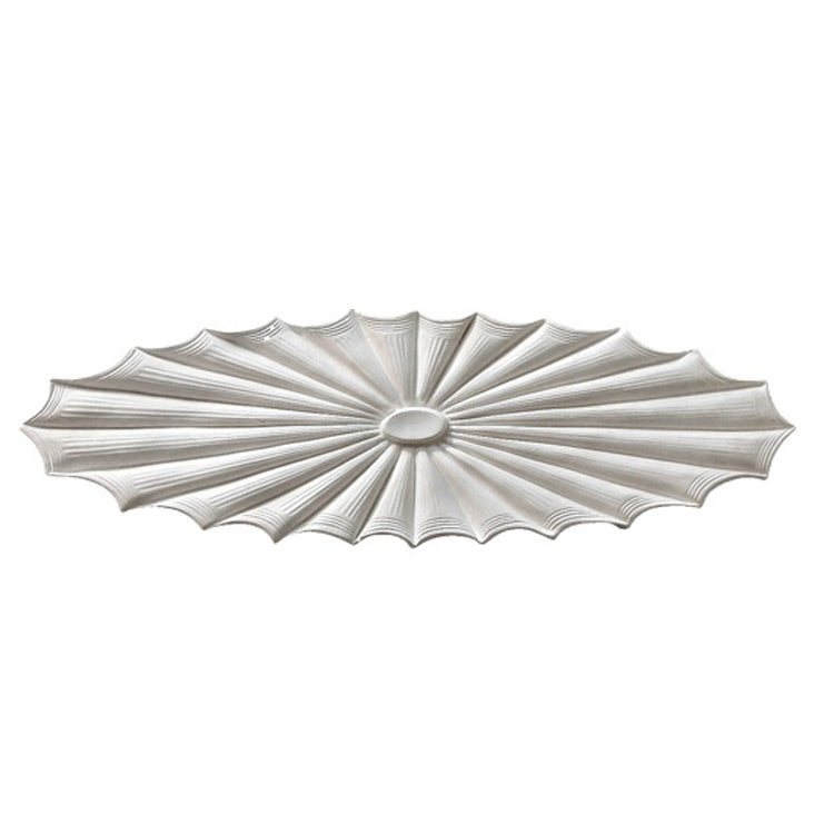 "32"" (W) x 10"" (H) x 1"" (Relief) - Colonial Style Oval Ceiling Medallion - [Plaster Material] - Brockwell Incorporated"
