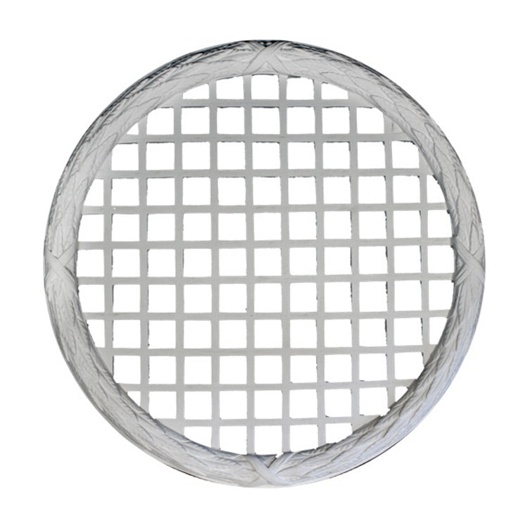 "36-3/4"" (Diam.) x 2"" (Relief) - Classic Round Grille (Vented) - [Plaster Material] - Brockwell Incorporated"