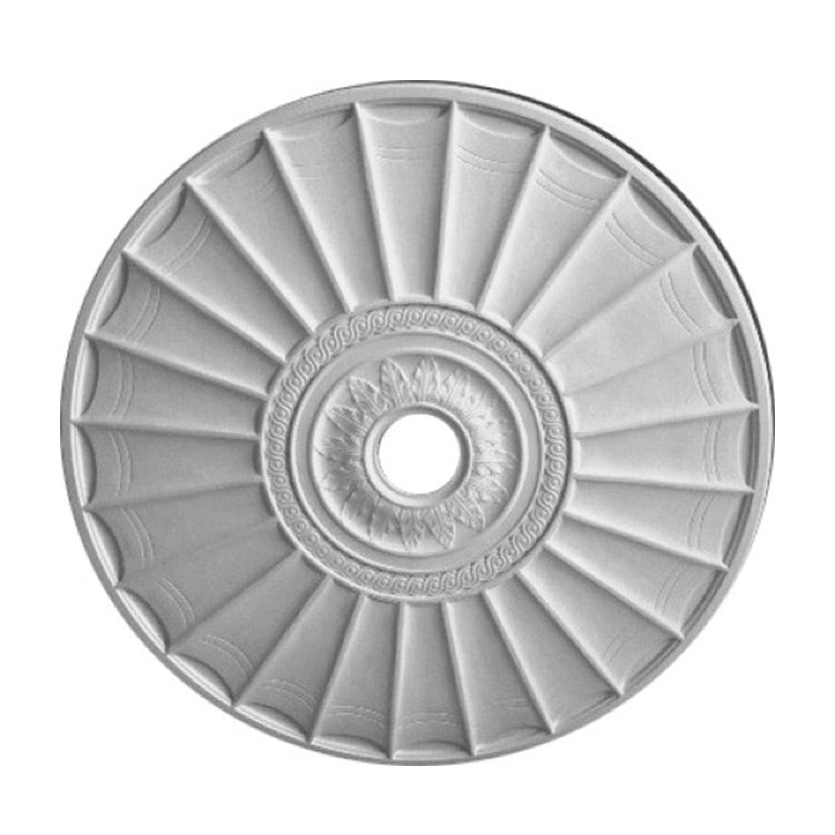 "36"" (Diam.) x 7/8"" (Relief) - Hole: 4-1/4"" - Decorative Round Ceiling Medallion - [Plaster Material] - Brockwell Incorporated"