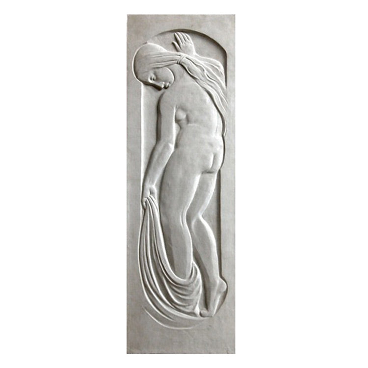 "12"" (W) x 36"" (H) x 3/4"" (Relief) - Art Deco Female Wall Panel - [Plaster Material] - Brockwell Incorporated"