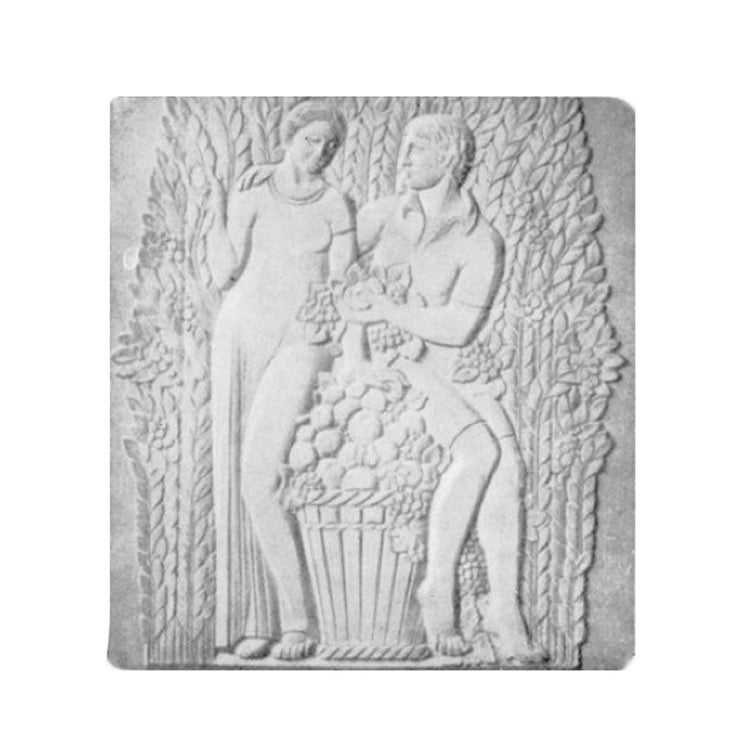 "36"" (W) x 40"" (H) x 3/4"" (Relief) - Art Deco Wall Panel - [Plaster Material] - Brockwell Incorporated"