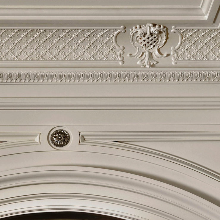 Example of Brockwell Incorporated's Louis XV Plaster Lattice Cove Molding Installed
