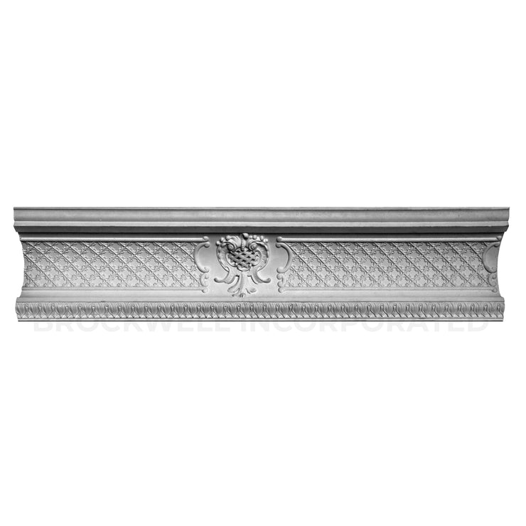Louis XV Plaster Lattice Cove Molding Design by Brockwell Incorporated