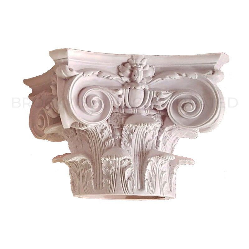 Exterior Cast Resin Round Modern Composite Column Capital