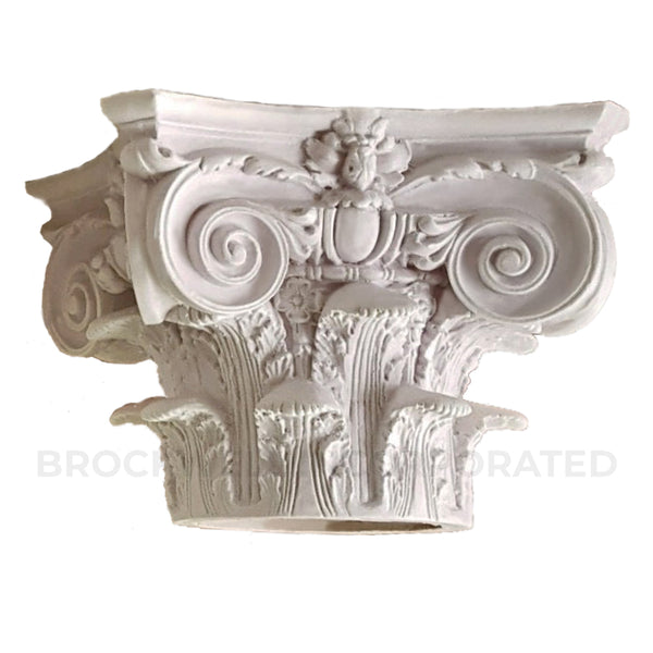 Round Plaster Column Capital - Modern Composite Style