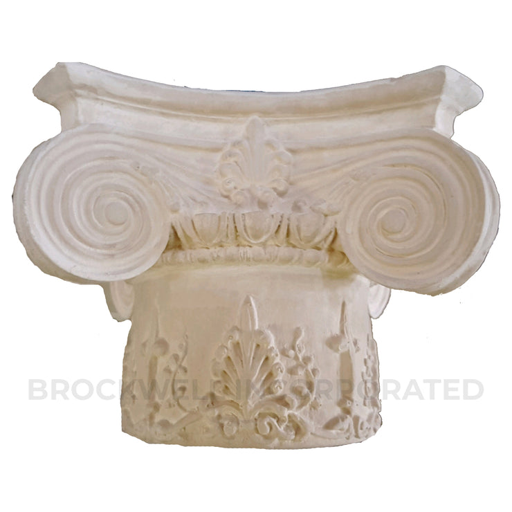 Modern Empire with Decorative Necking Plaster Round Column Capital - Brockwell Incorporated