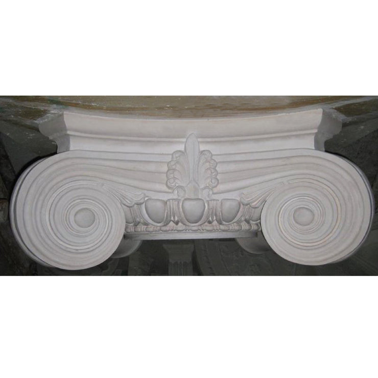 Beautiful plaster round Modern Empire Ionic column capital design