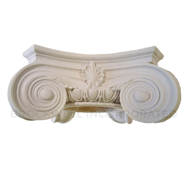 Ionic Order (Roman) - Empire - ROUND Column Capital - [Plaster Material] - Brockwell Incorporated