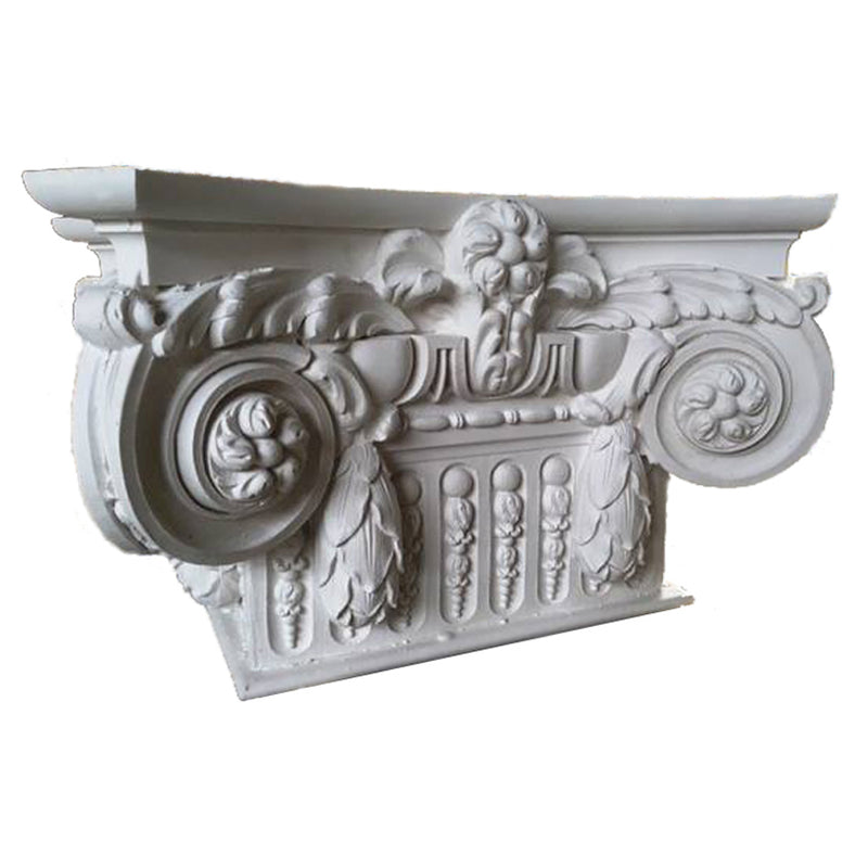 Ionic Order (Modern French with Necking) - PILASTER CAP - [Plaster Material] - Brockwell Incorporated