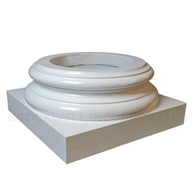 Interior replacement load-bearing Ionic Order (Attic) base molding and plinth