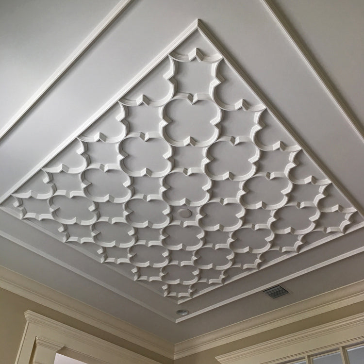 Order Open Geometric Style Plaster Ceiling Traceries