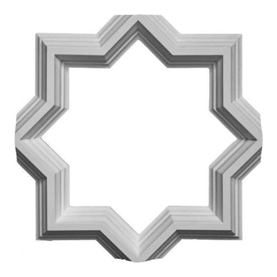 Plaster Tracery Design for Ceilings - Open Geometric Style