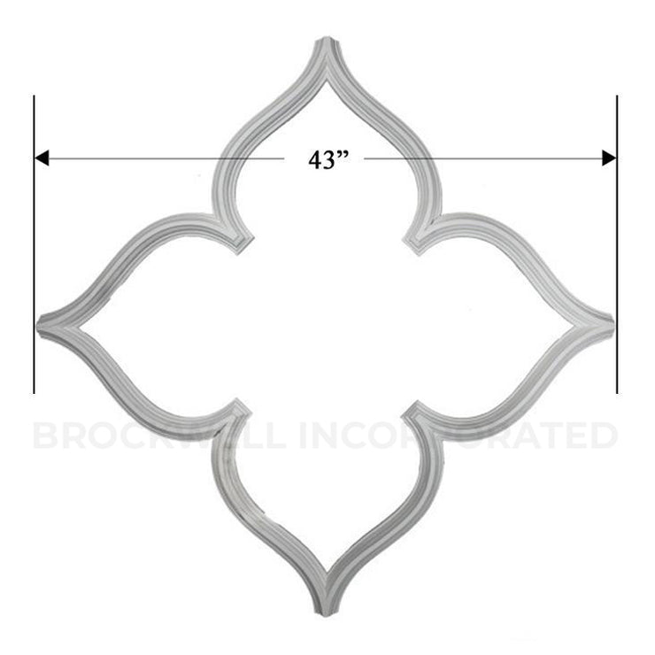 "43""(On Diagonal) x 1-1/2""(Relief) - Transitional Open Gothic Tracery - [Plaster Material]-CEILINGS-Brockwell Incorporated"