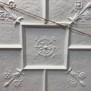 Closeup detail of Brockwell Incorporated's Old English Style plaster ceiling panel