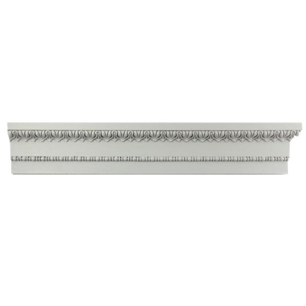 "3-5/8""(H) x 1""(Proj.) - Repeat: 1-1/8"" - Greek Style Crown Molding Design - [Plaster Material] - Brockwell Incorporated"
