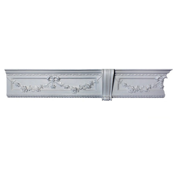 "6""(H) x 1-5/8""(Proj.) - Repeat: 20"" - Louis XVI Style Crown Molding Design - [Plaster Material] - Brockwell Incorporated"