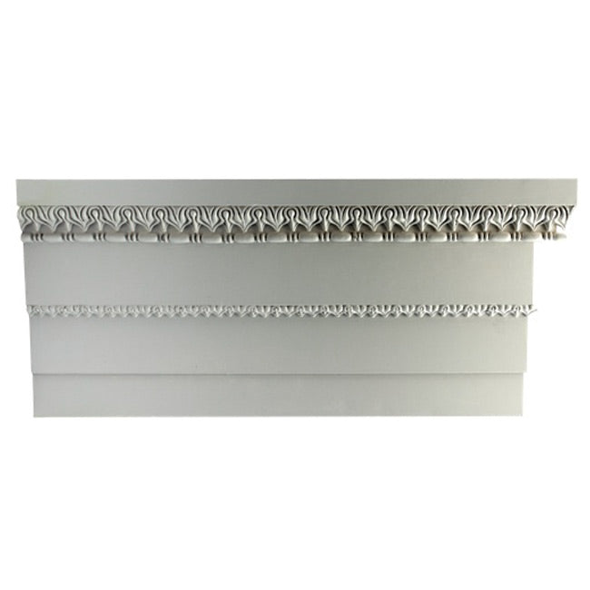 "1-5/8""(H) x 7-5/8""(Proj.) - Repeat: 1"" - Greek Style Crown Molding Design - [Plaster Material] - Brockwell Incorporated"