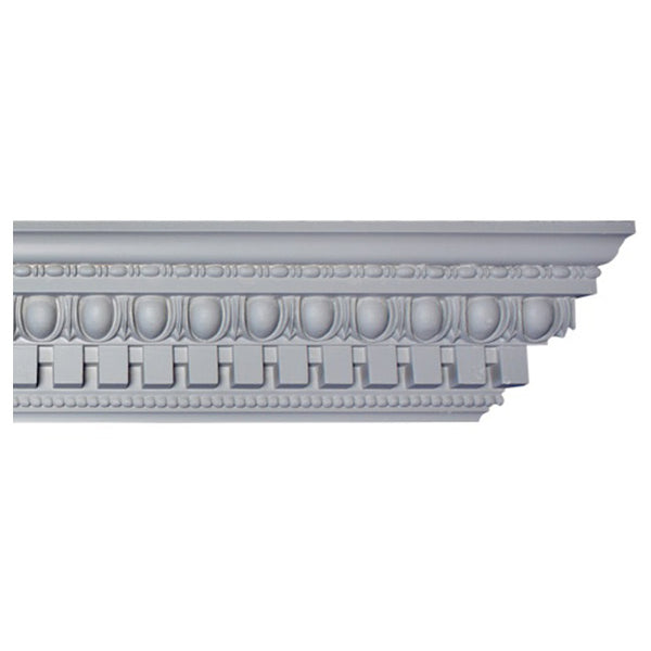"4-1/2""(H) x 3-1/2""(Proj.) - Repeat: 1-1/2"" - Roman Style Crown Molding Design - [Plaster Material] - Brockwell Incorporated"