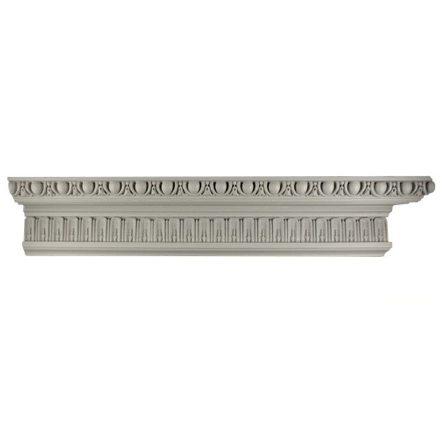 "4-5/8""(H) x 2-3/4""(Proj.) - Repeat: 3"" - Louis XIV Style Crown Molding Design - [Plaster Material] - Brockwell Incorporated"