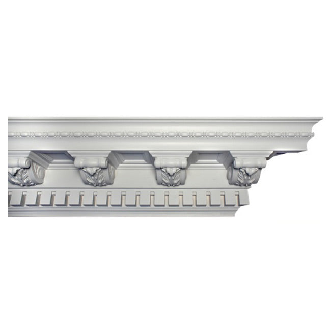 "10""(H) x 9-1/2""(Proj.) - Repeat: 9-5/8"" - Colonial Style Crown Molding Design - [Plaster Material] - Brockwell Incorporated"