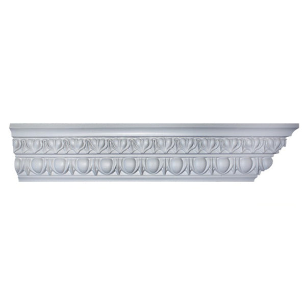 "6""(H) x 4-1/2""(Proj.) - Repeat: 3"" - Roman Ionic Crown Molding Design - [Plaster Material] - Brockwell Incorporated"