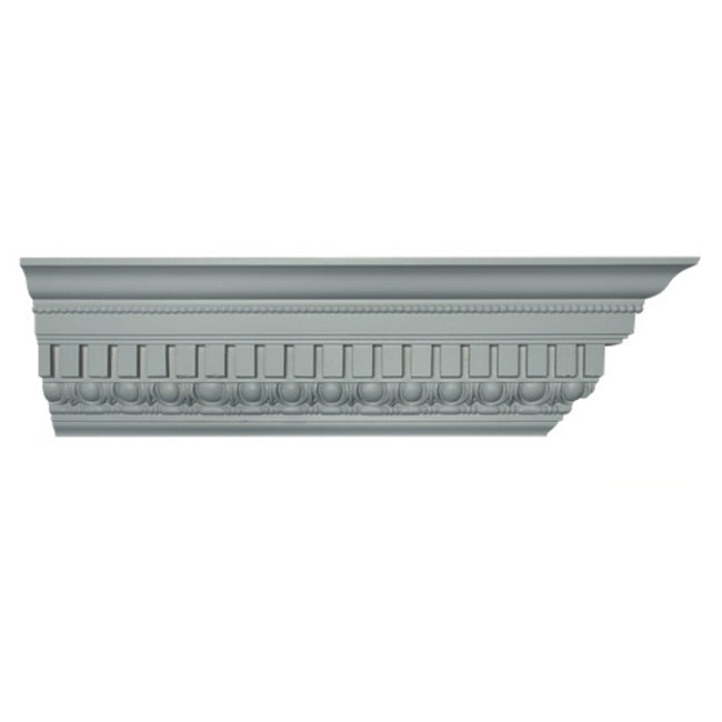 "6""(H) x 4-1/2""(Proj.) - Repeat: 1-1/2"" - Roman Style Crown Molding Design - [Plaster Material] - Brockwell Incorporated"