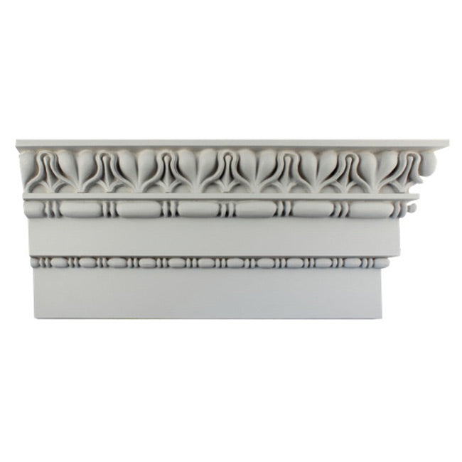 "9-1/4""(H) x 2-3/4""(Proj.) - Repeat: 3"" - Roman Style Crown Molding Design - [Plaster Material] - Brockwell Incorporated"