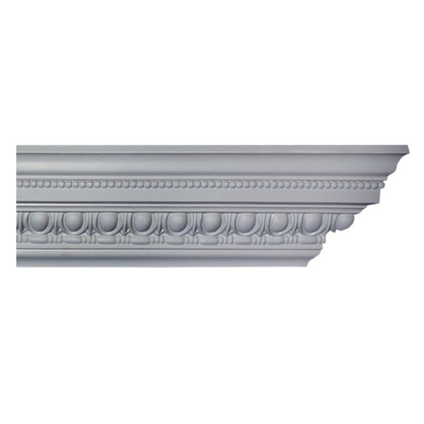 "4-1/4""(H) x 3-3/4""(Proj.) - Repeat: 1-1/2"" - Roman Style Crown Molding Design - [Plaster Material] - Brockwell Incorporated"
