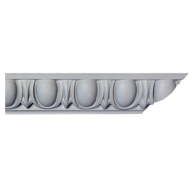 "3""(H) x 3""(Proj.) - Egg & Dart Crown Molding Design - [Plaster Material] - Brockwell Incorporated"