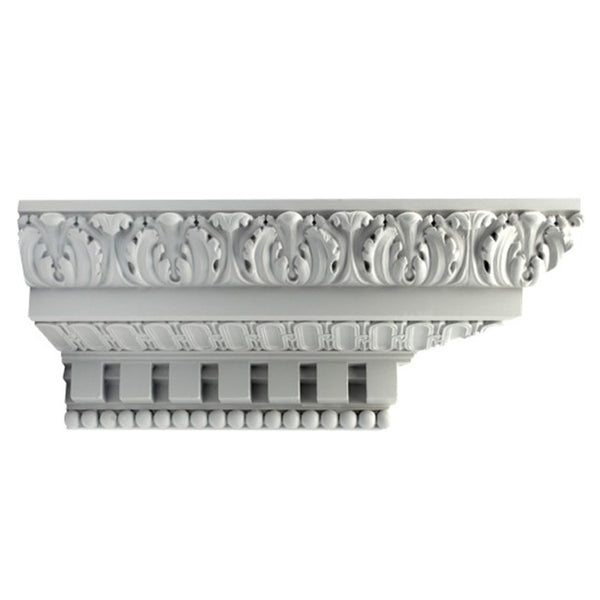 "6""(H) x 6-1/2""(Proj.) - French Renaissance Crown Molding Design - [Plaster Material] - Brockwell Incorporated"