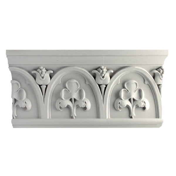 "8-3/4""(H) x 2-1/2""(Proj.) - Gothic Style Crown Molding Design - [Plaster Material] - Brockwell Incorporated"