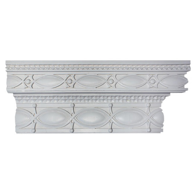 "11-1/2""(H) x 4-3/4""(Proj.) - Sullivanesque Crown Molding Design - [Plaster Material] - Brockwell Incorporated"