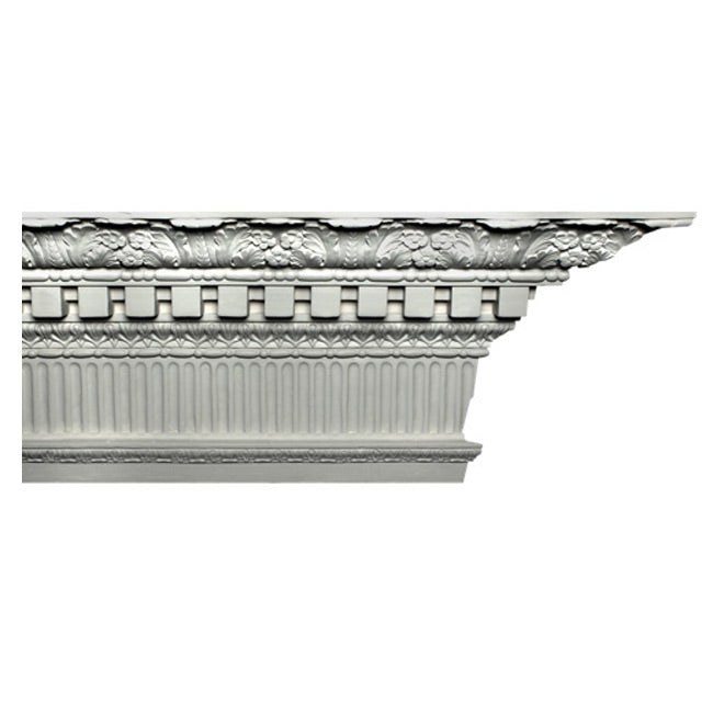 "12-1/2""(H) x 6-1/2""(Proj.) - Colonial Crown Molding Design - [Plaster Material] - Brockwell Incorporated"
