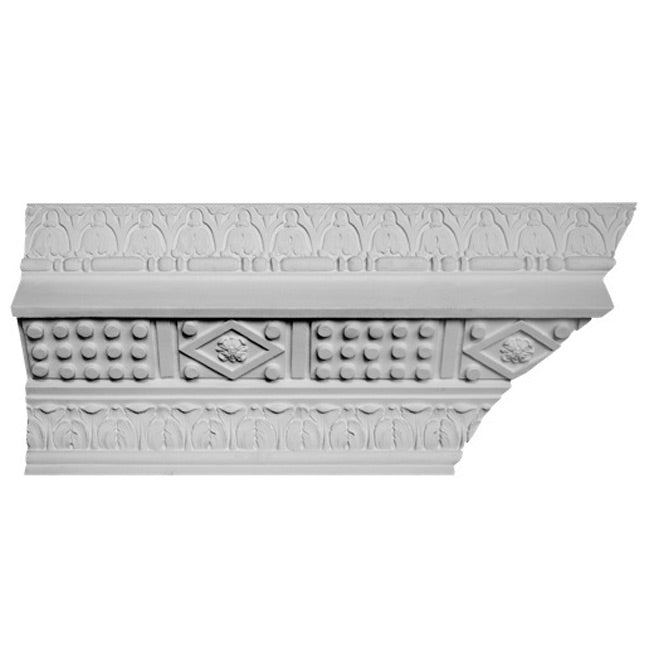 "8-3/4""(H) x 10""(Proj.) - Italian Renaissance Crown Molding Design - [Plaster Material] - Brockwell Incorporated"