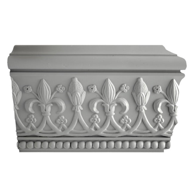 "8-1/2""(H) x 2-3/4""(Proj.) - English Style Crown Molding Design - [Plaster Material] - Brockwell Incorporated"