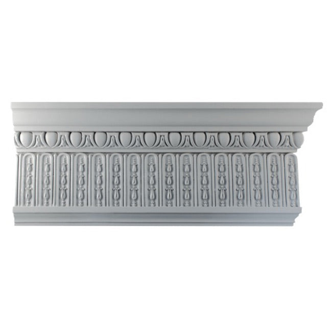 "8""(H) x 1-3/4""(Proj.) - Adam's Style Crown Molding Design - [Plaster Material] - Brockwell Incorporated"