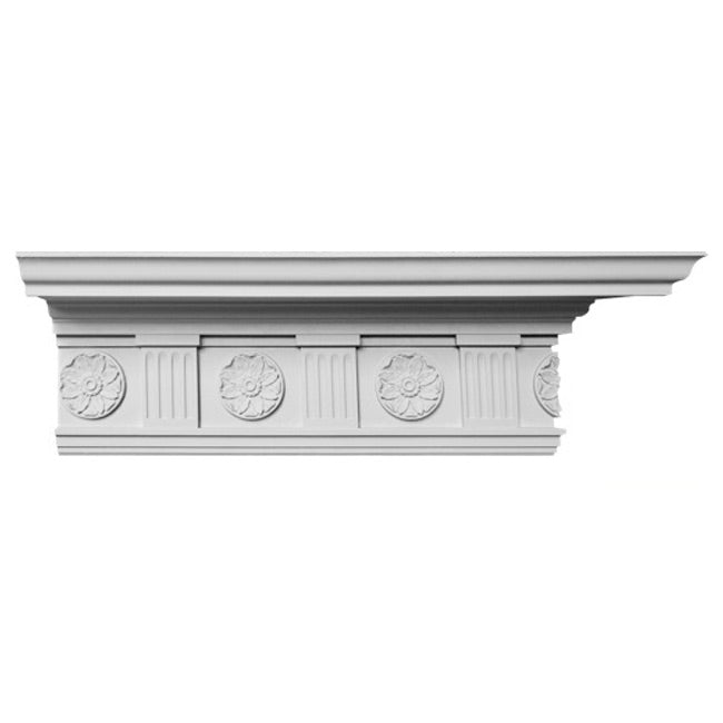 "11""(H) x 6-5/8""(Proj.) - Colonial Style Crown Molding Design - [Plaster Material] - Brockwell Incorporated"