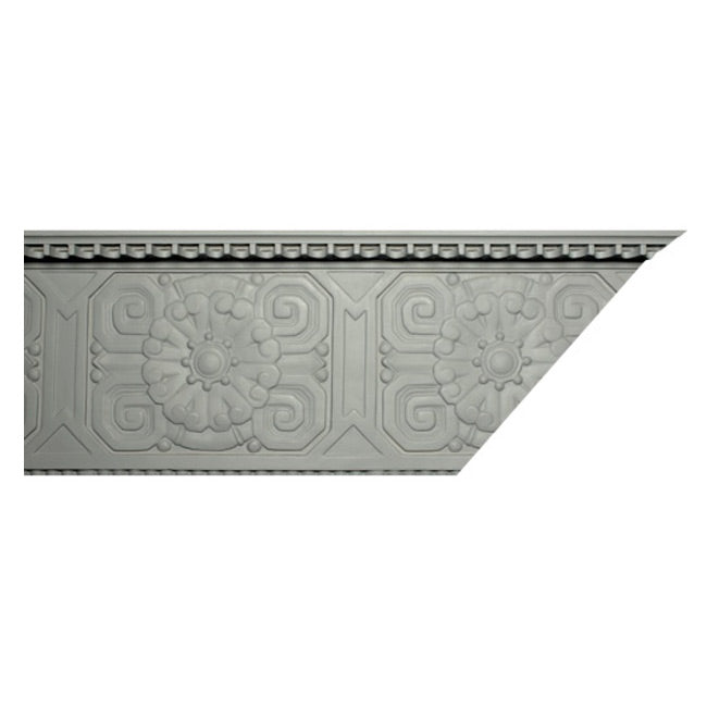 "3""(H) x 10-3/4""(Proj.) - Repeat: 13-1/2"" - Art Deco Crown Molding Design - [Plaster Material] - Brockwell Incorporated"