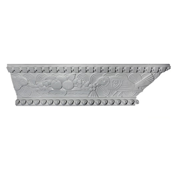 "4-1/2""(H) x 10-1/4""(Proj.) - Repeat: 55-1/2"" - Art Deco Crown Molding Design - [Plaster Material] - Brockwell Incorporated"