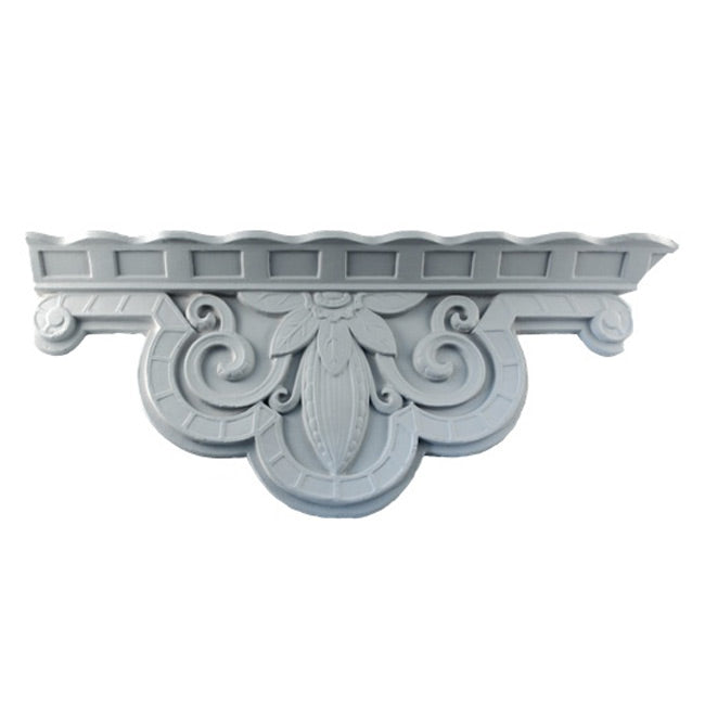 "2""(H) x 7-3/4""(Proj.) - Repeat: 18-1/4"" - Art Deco Crown Molding Design - [Plaster Material] - Brockwell Incorporated"