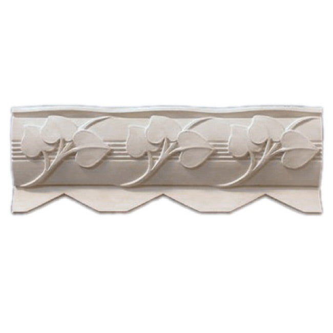 "3""(H) x 5""(Proj.) - Repeat: 5-1/2"" - Art Deco Crown Molding Design - [Plaster Material] - Brockwell Incorporated"