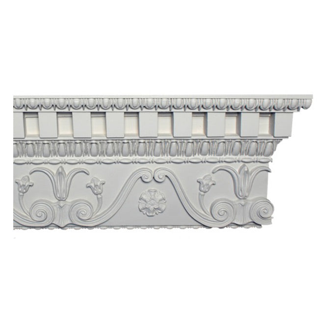 "10""(H) x 2-1/2""(Proj.) - Greek Style Crown Molding Design - [Plaster Material] - Brockwell Incorporated"