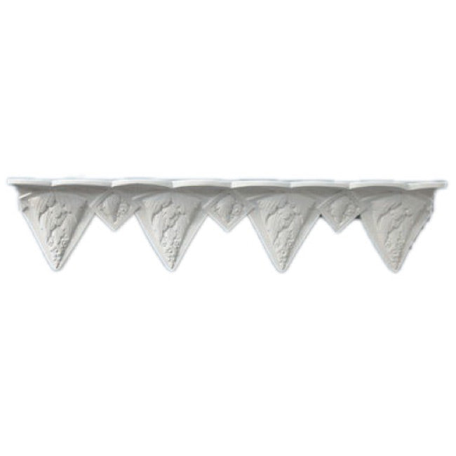 "3""(H) x 6-3/4""(Proj.) - Repeat: 9-1/4"" - Art Deco Crown Molding Design - [Plaster Material] - Brockwell Incorporated"