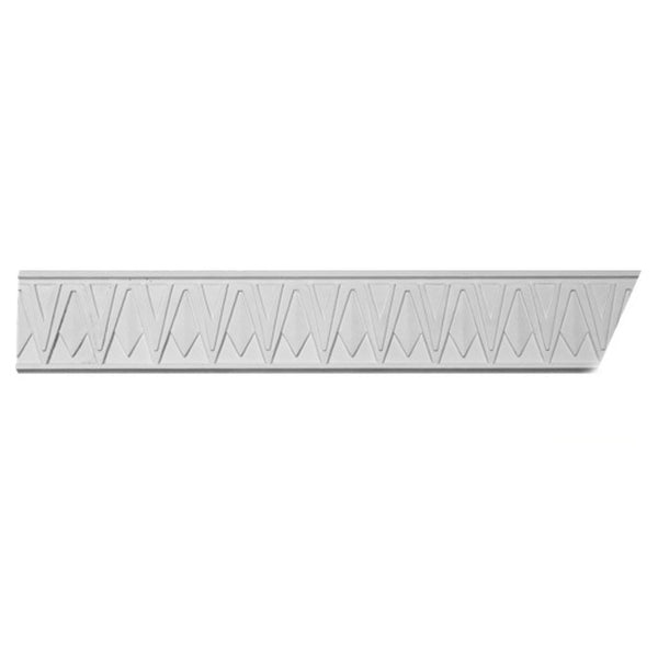 "4""(H) x 2-7/8""(Proj.) - Repeat: 2-1/2"" - Art Deco Crown Molding Design - [Plaster Material] - Brockwell Incorporated"