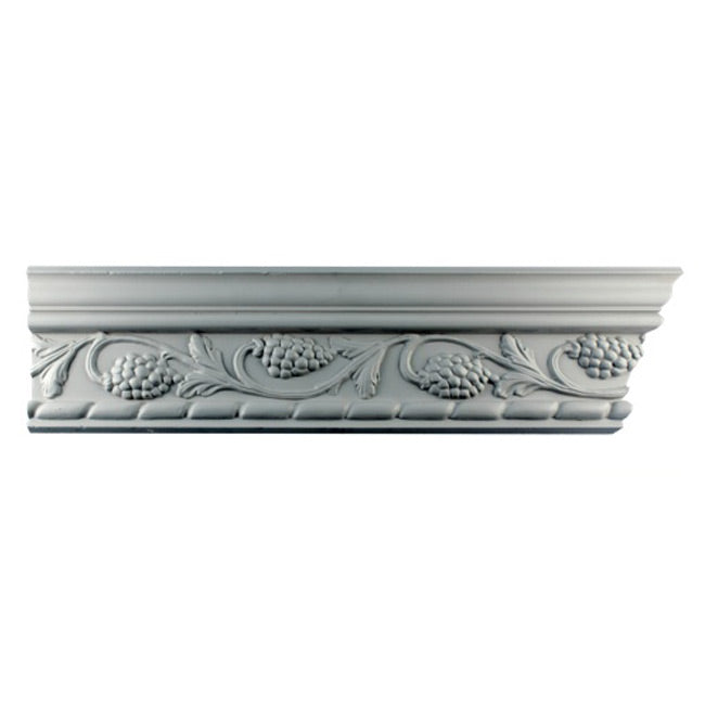 "4-5/8""(H) x 3-1/8""(Proj.) - Repeat: 10-5/8"" - English Style Crown Molding Design - [Plaster Material] - Brockwell Incorporated"